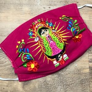 Our Lady of Guadalupe Face Mask Cover Hot Pink